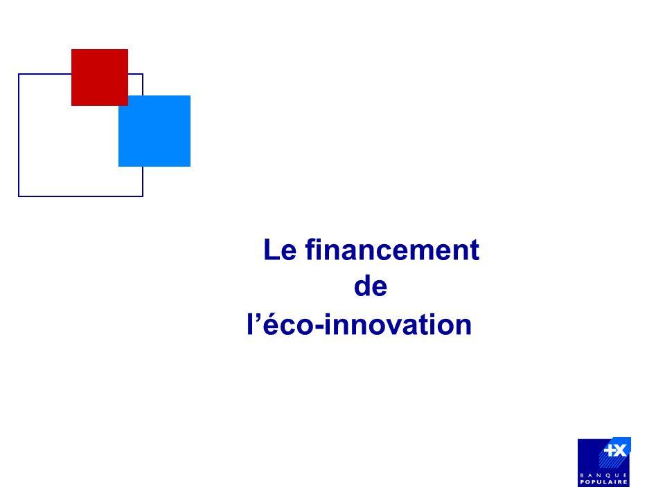 Le financement de léco-innovation