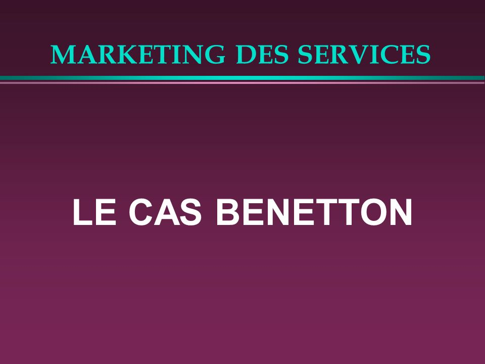 MARKETING DES SERVICES CHAINE DE VALEUR SELON Michaël PORTER