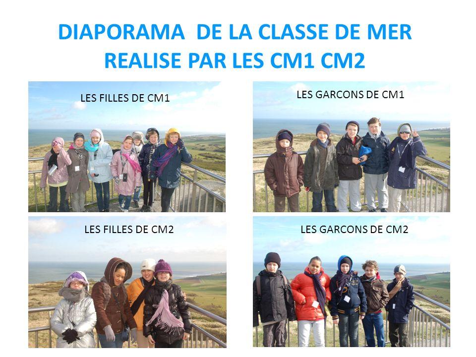 DIAPORAMA DE LA CLASSE DE MER REALISE PAR LES CM1 CM2 LES FILLES DE CM1 LES GARCONS DE CM2 LES GARCONS DE CM1 LES FILLES DE CM2