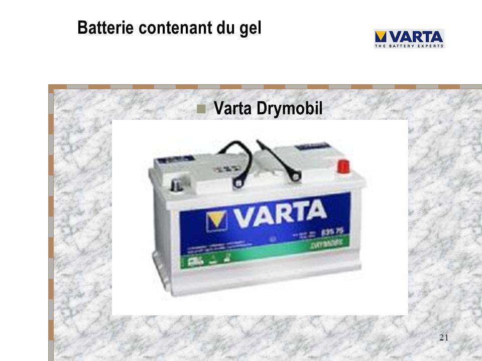 21 Batterie contenant du gel Varta Drymobil