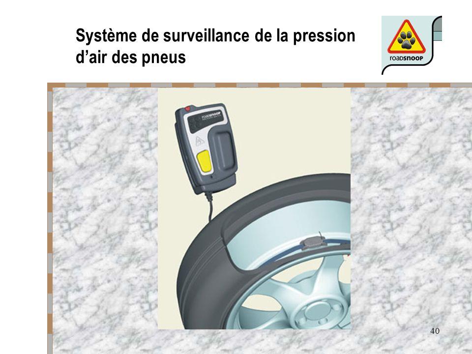 40 Système de surveillance de la pression dair des pneus