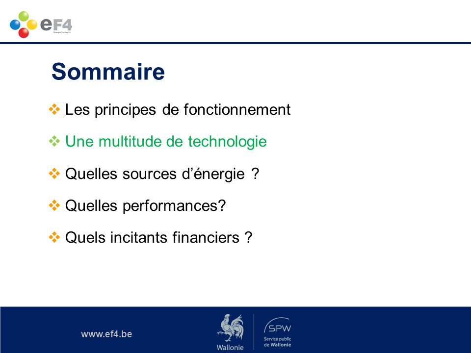 www.ef4.be Source froide / Source chaude .