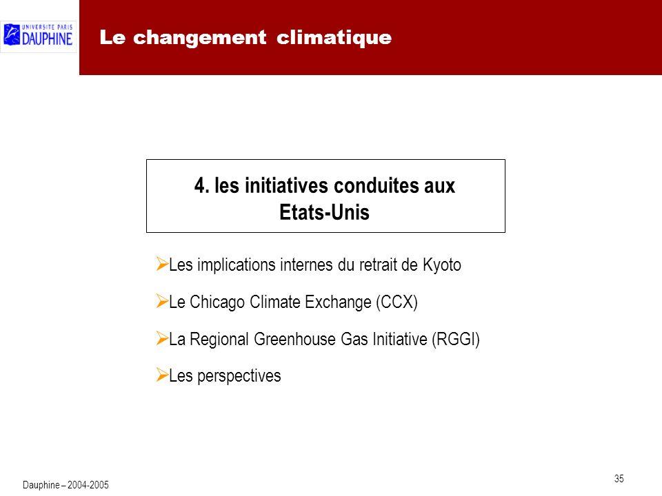 35 Dauphine – 2004-2005 Le changement climatique 4.