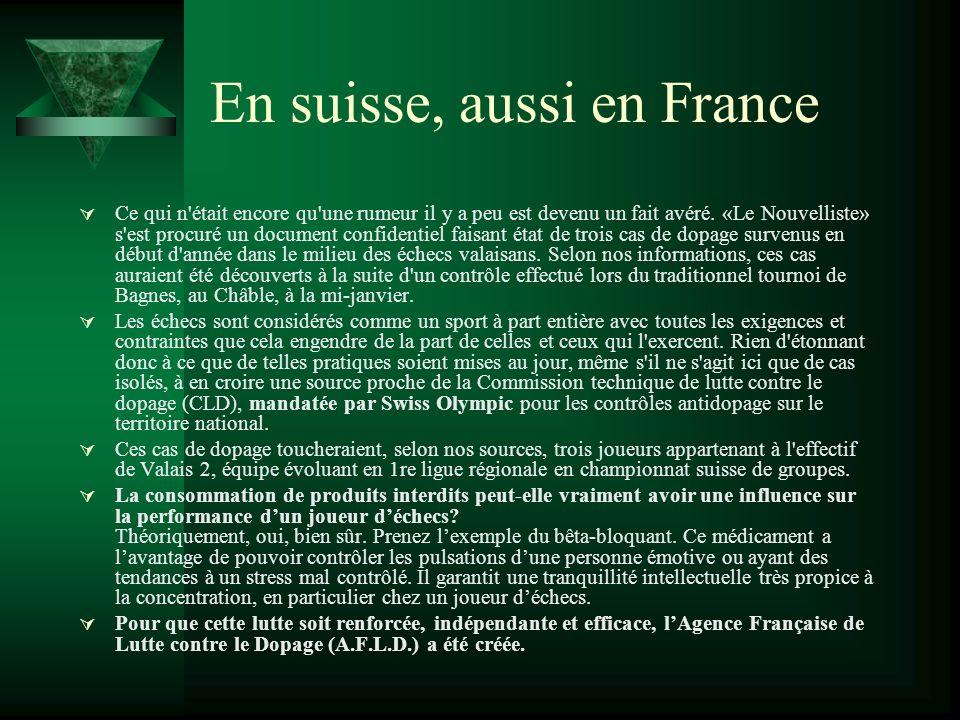 En suisse, aussi en France Ce qui n'était encore qu'une rumeur il y a peu est devenu un fait avéré. «Le Nouvelliste» s'est procuré un document confide