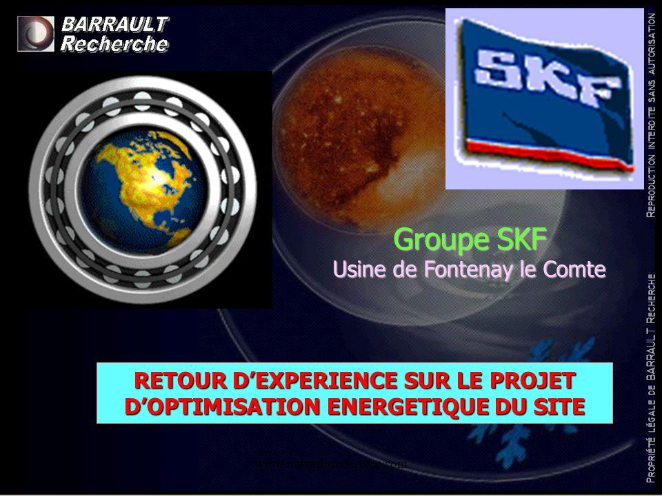 Groupe SKF Usine de Fontenay le Comte RETOUR DEXPERIENCE SUR LE PROJET DOPTIMISATION ENERGETIQUE DU SITE