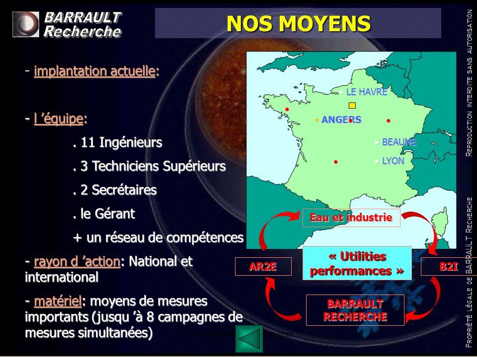 www.barrault-recherche.com NOS DOMAINES D INTERVENTION TOUS SECTEURS DE LINDUSTRIE (98% de notre activité) Air Comprimé, Chaud, Froid, Vide, eau, Process, etc...