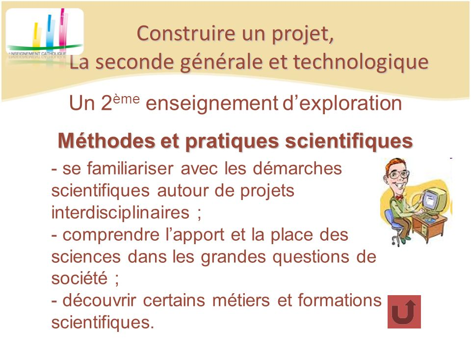 Construire un projet, La seconde générale et technologique Un 2 ème enseignement dexploration Méthodes et pratiques scientifiques - se familiariser av