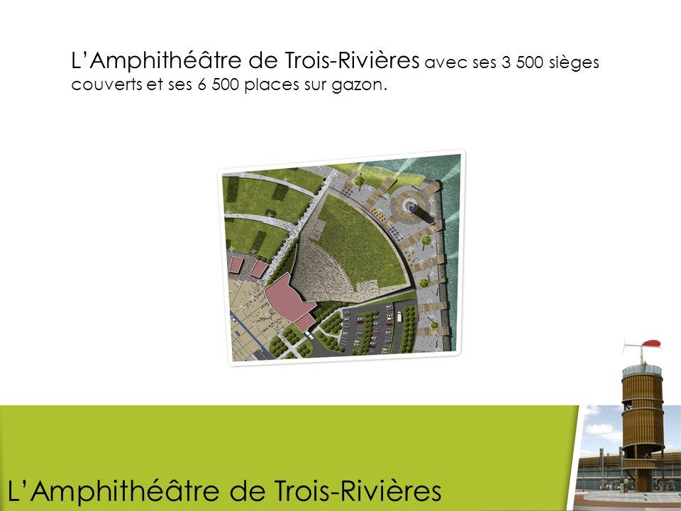 LAmphithéâtre de Trois-Rivières avec ses 3 500 sièges couverts et ses 6 500 places sur gazon.
