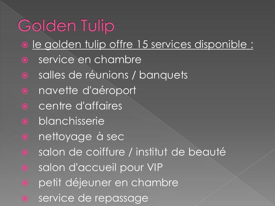 Le golden tulip propose 8 activités : sauna centre de remise en forme spa & centre de bien-être massage jacuzzi installations pour barbecue hammam pis