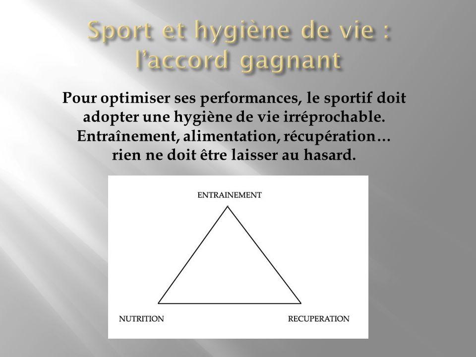 Pour optimiser ses performances, le sportif doit adopter une hygiène de vie irréprochable. Entraînement, alimentation, récupération… rien ne doit être