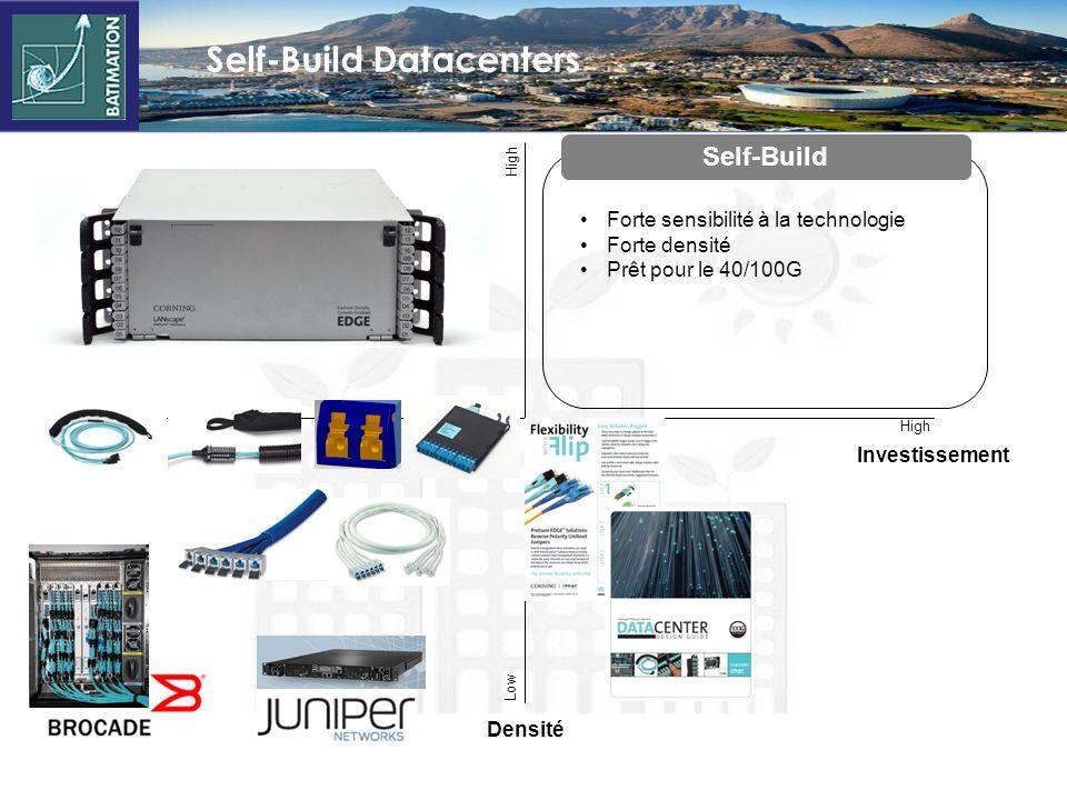 Full-Service Co-Lo Datacenters LowHigh Low Débit Moindre densité Prêt pour le 40/100G Full-Service Co-Lo Investissement