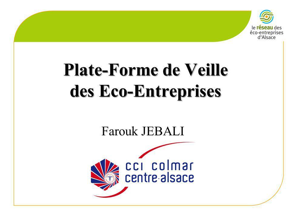Plate-Forme de Veille des Eco-Entreprises Farouk JEBALI