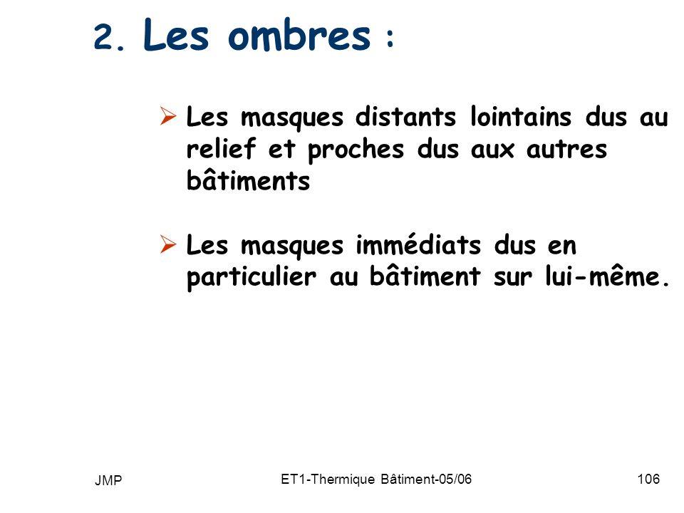 JMP ET1-Thermique Bâtiment-05/06106 2.