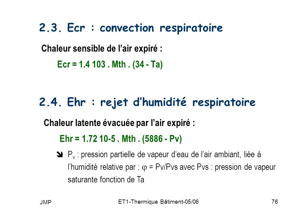 JMP ET1-Thermique Bâtiment-05/0676 2.3.