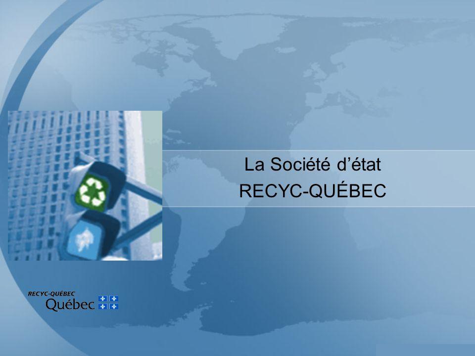 4 Société dÉtat, créée en 1990 Relève du ministre de lEnvironnement (Développement durable, Environnement et Parcs) Mission : «...