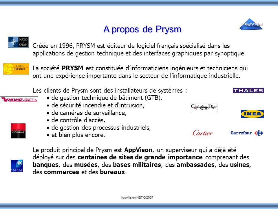 A propos de Prysm Créée en 1996, PRYSM est éditeur de logiciel français spécialisé dans les applications de gestion technique et des interfaces graphi