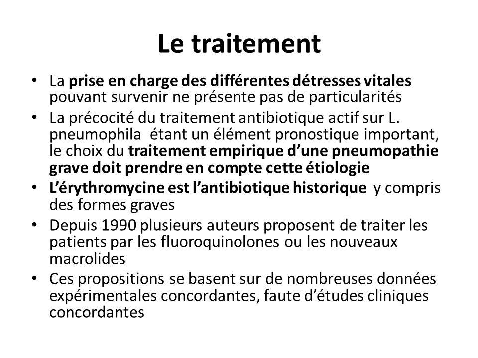 Le traitement La prise en charge des différentes détresses vitales pouvant survenir ne présente pas de particularités La précocité du traitement antib