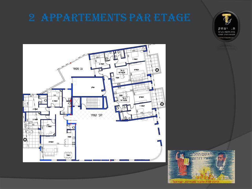 2 Appartements PAR ETAGE