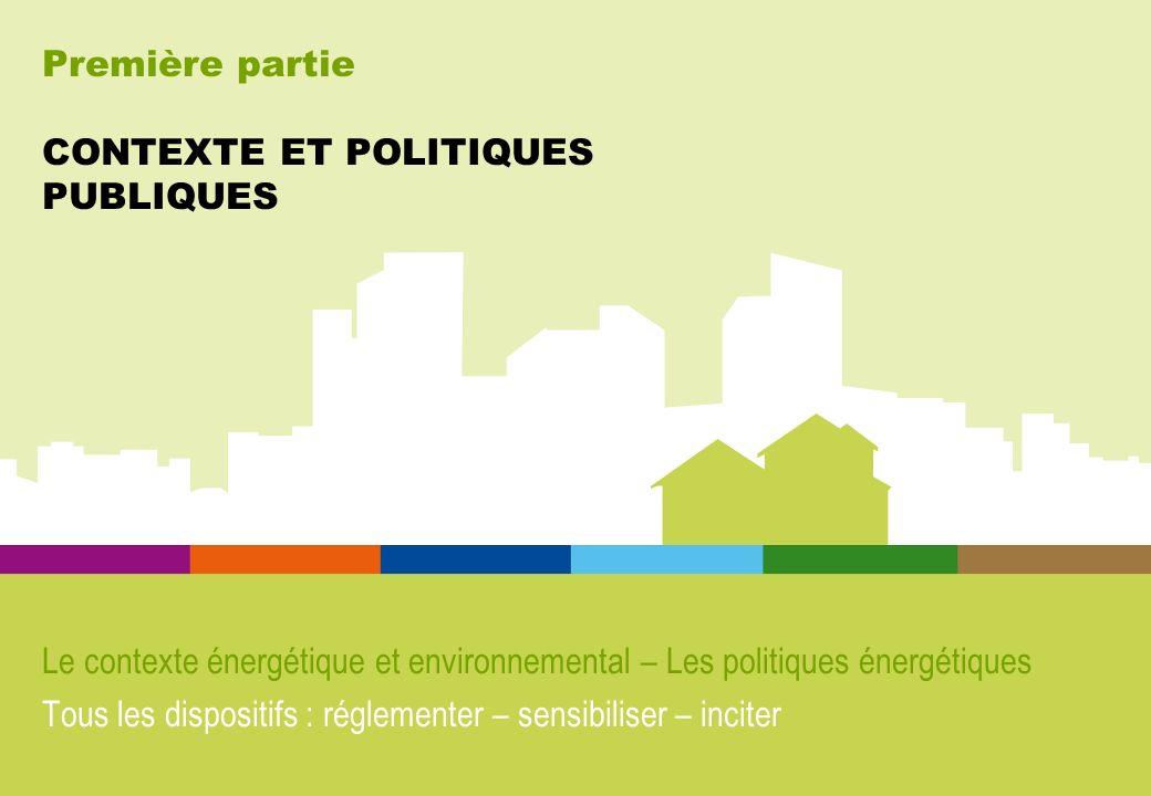 Première partie CONTEXTE ET POLITIQUES PUBLIQUES Le contexte énergétique et environnemental – Les politiques énergétiques Tous les dispositifs : régle
