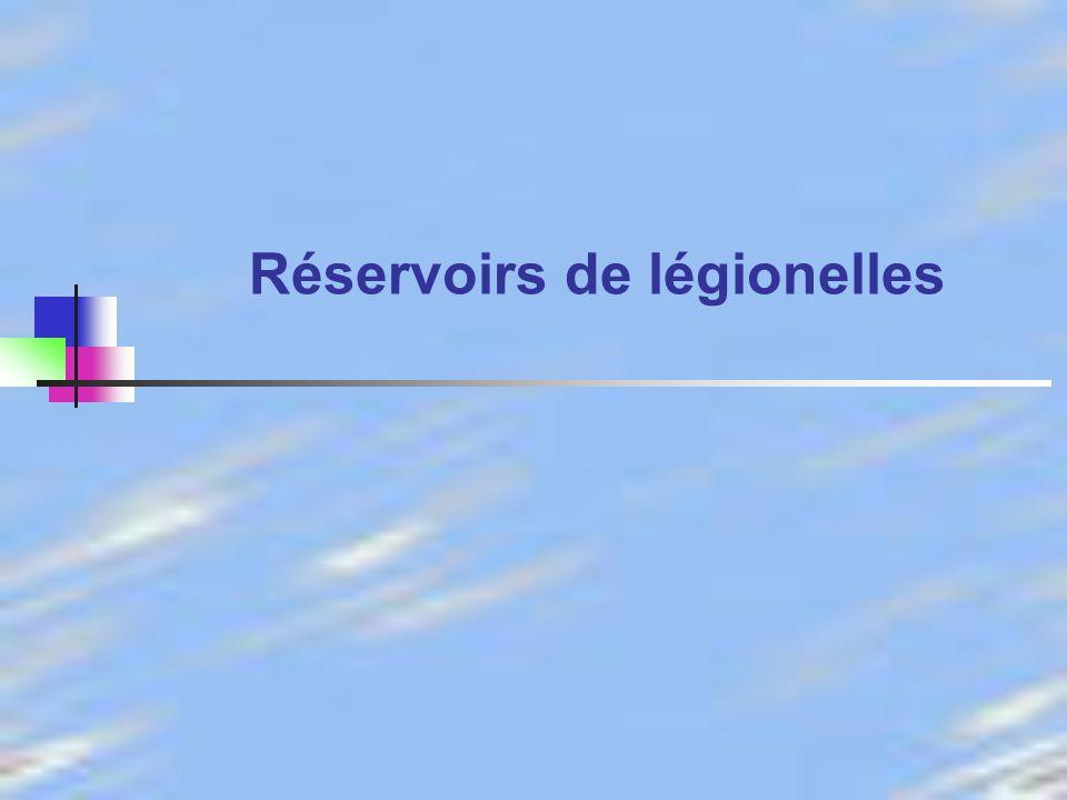 Réservoirs de légionelles