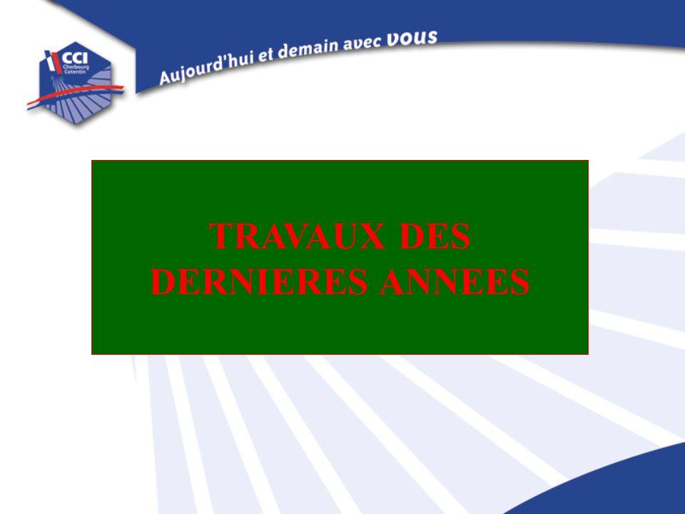 TRAVAUX DES DERNIERES ANNEES