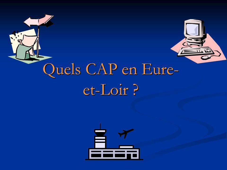 Quels CAP en Eure- et-Loir ?