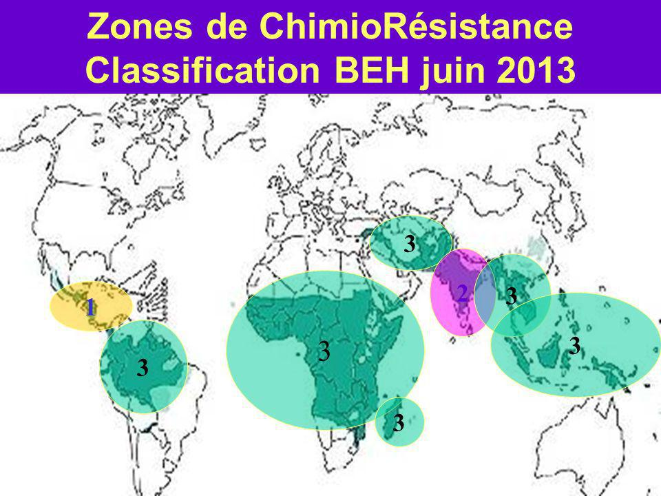 Zones de ChimioRésistance Classification BEH juin 2013 3 3 3 1 3 2 3 3