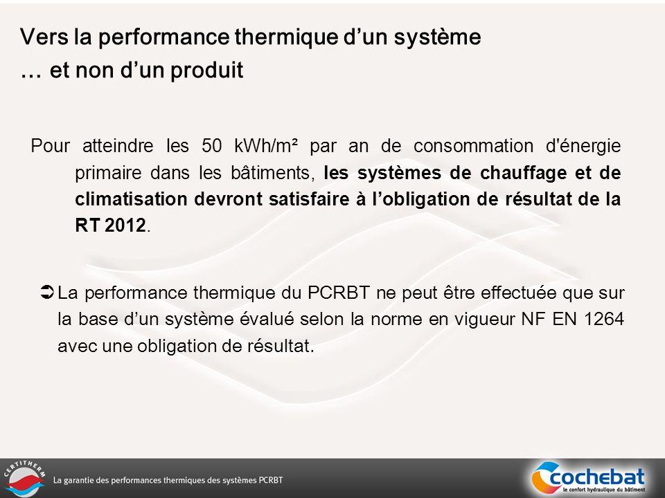 Pour atteindre les 50 kWh/m² par an de consommation d énergie primaire dans les bâtiments, les systèmes de chauffage et de climatisation devront satisfaire à lobligation de résultat de la RT 2012.