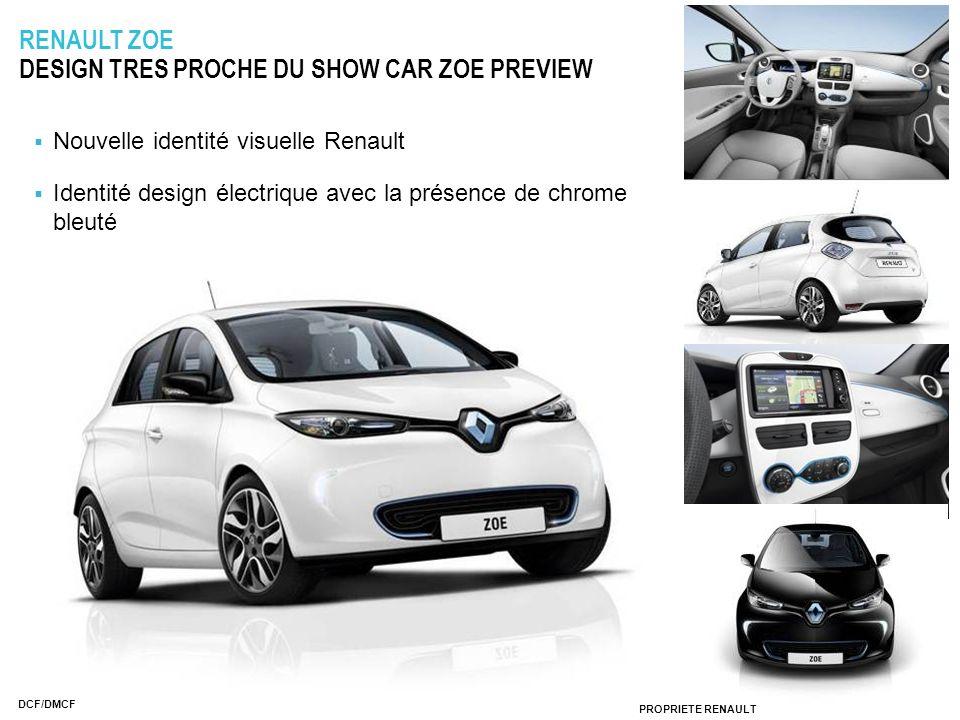 PROPRIÉTÉ RENAULT DCF/DMCF RENAULT ZOE DESIGN TRES PROCHE DU SHOW CAR ZOE PREVIEW Nouvelle identité visuelle Renault Identité design électrique avec l