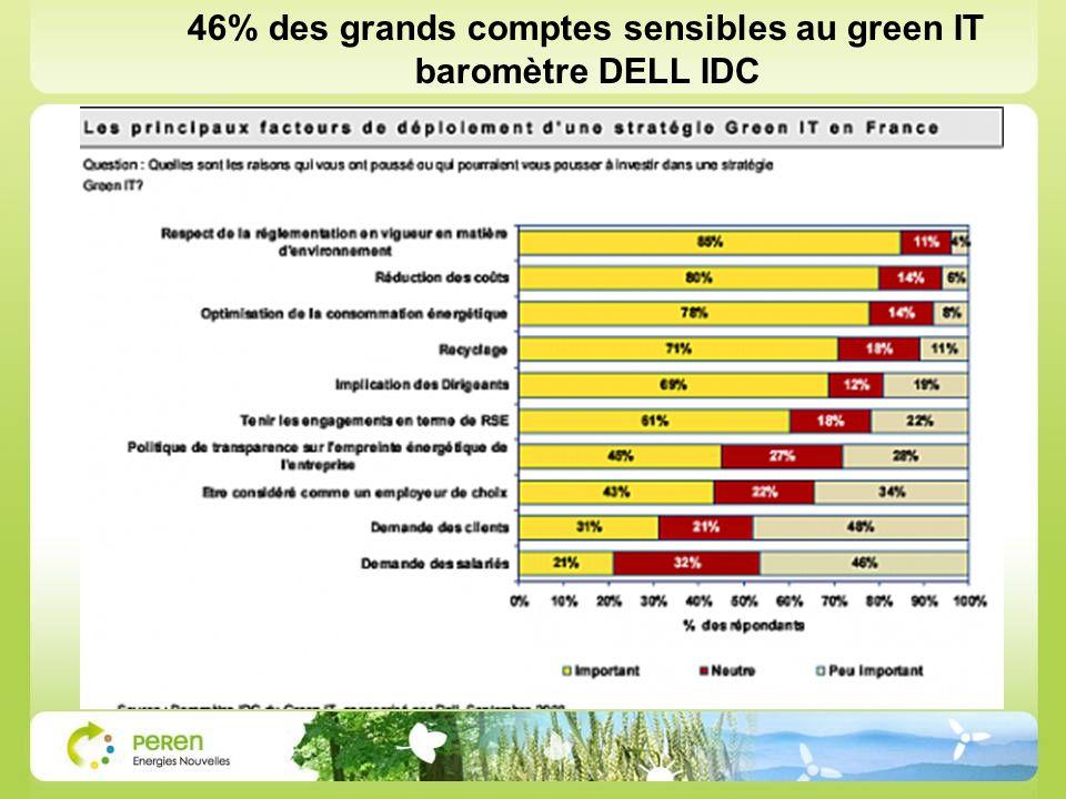 46% des grands comptes sensibles au green IT baromètre DELL IDC