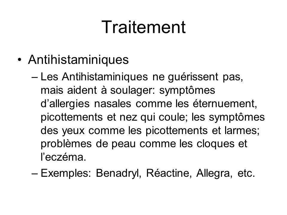 Traitement Antihistaminiques –Les Antihistaminiques ne guérissent pas, mais aident à soulager: symptômes dallergies nasales comme les éternuement, pic