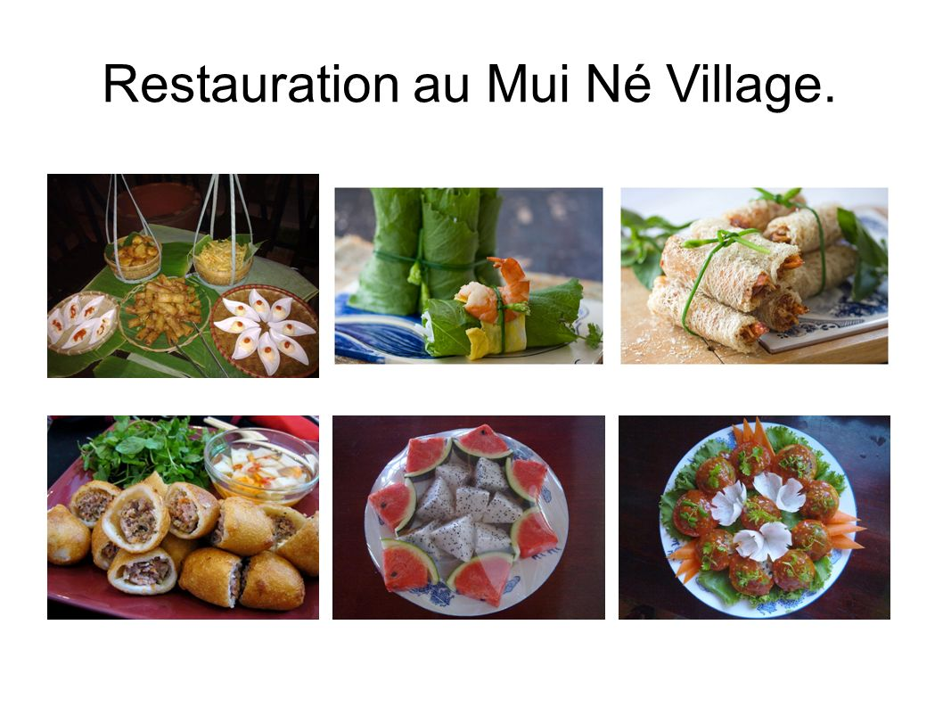 Restauration au Mui Né Village.