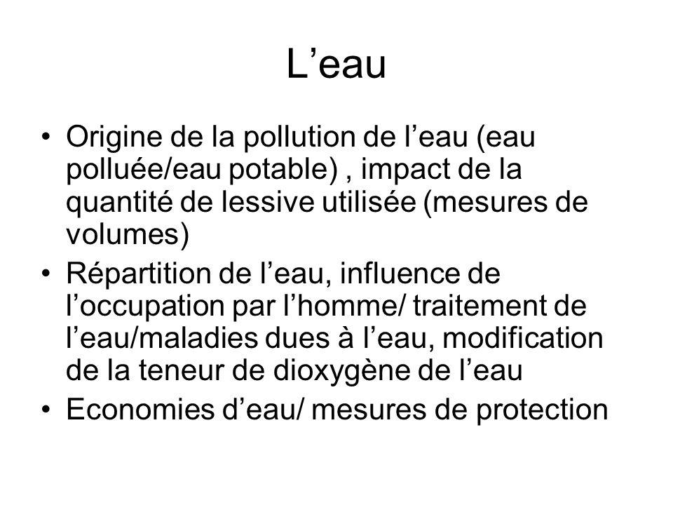 Lenergie Énergie fossiles(géologie)/énergies renouvelables, conséquences sur lenvironnement, effet de serre/composition de latmosphère, qualité de lair Piles / traitements des déchets/intérêt de la chimie pourr synthétiser des bio carburants, le recyclage