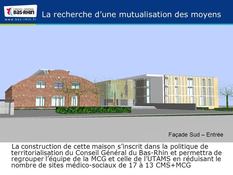 Maison du Conseil Général de la CUS - Plan de situation L opération s inscrit dans un site urbain hétérogène, mêlant habitat, activité et infrastructure ferroviaire