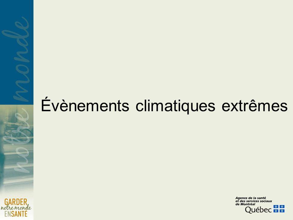 Évènements climatiques extrêmes