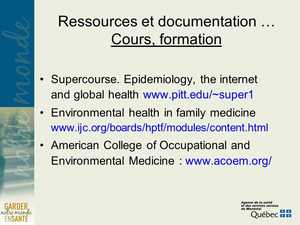 Ressources et documentation … Cours, formation Supercourse.