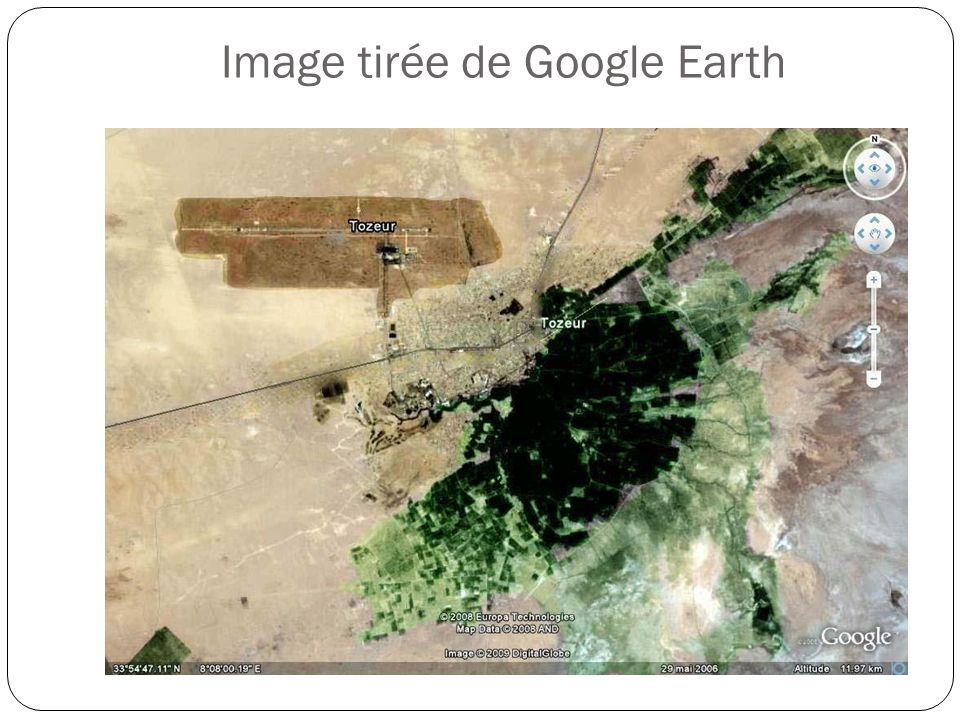 Image tirée de Google Earth