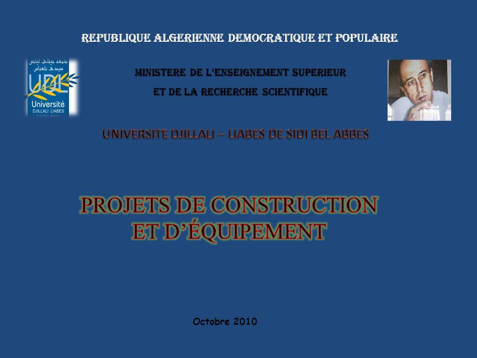 REPUBLIQUE ALGERIENNE DEMOCRATIQUE ET POPULAIRE REPUBLIQUE ALGERIENNE DEMOCRATIQUE ET POPULAIRE MINISTERE DE LENSEIGNEMENT SUPERIEUR ET DE LA RECHERCHE SCIENTIFIQUE Octobre 2010