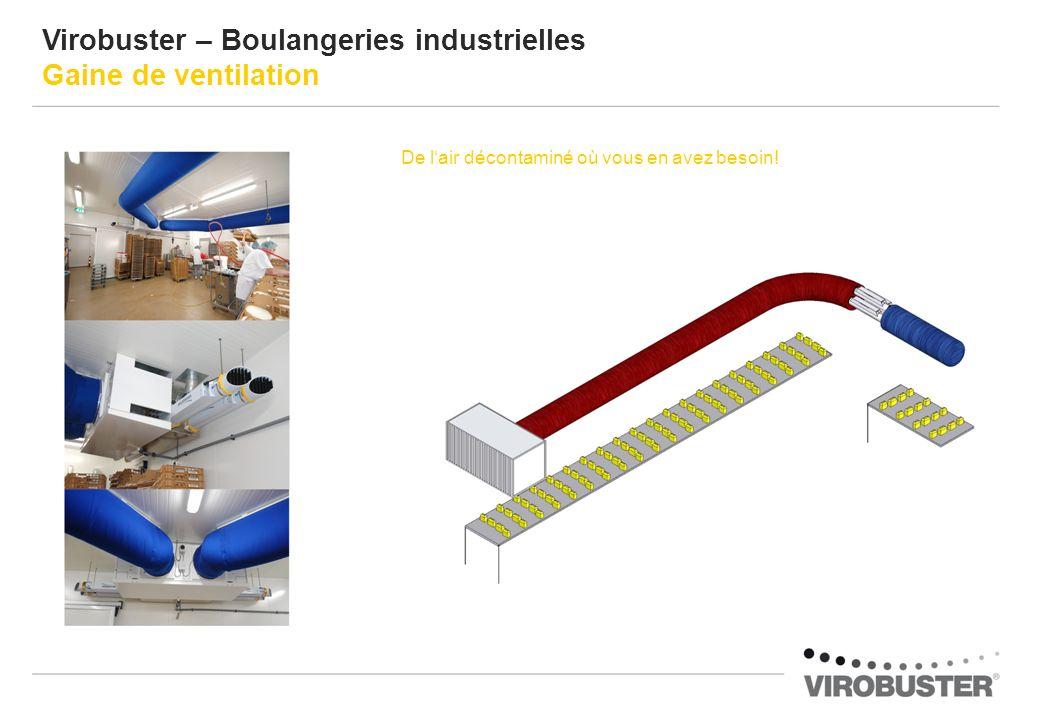 Virobuster – Boulangeries industrielles Gaine de ventilation De lair décontaminé où vous en avez besoin!