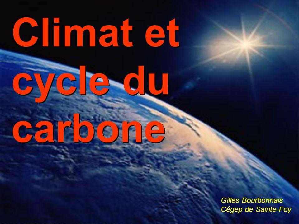 Climat et cycle du carbone Gilles Bourbonnais Cégep de Sainte-Foy
