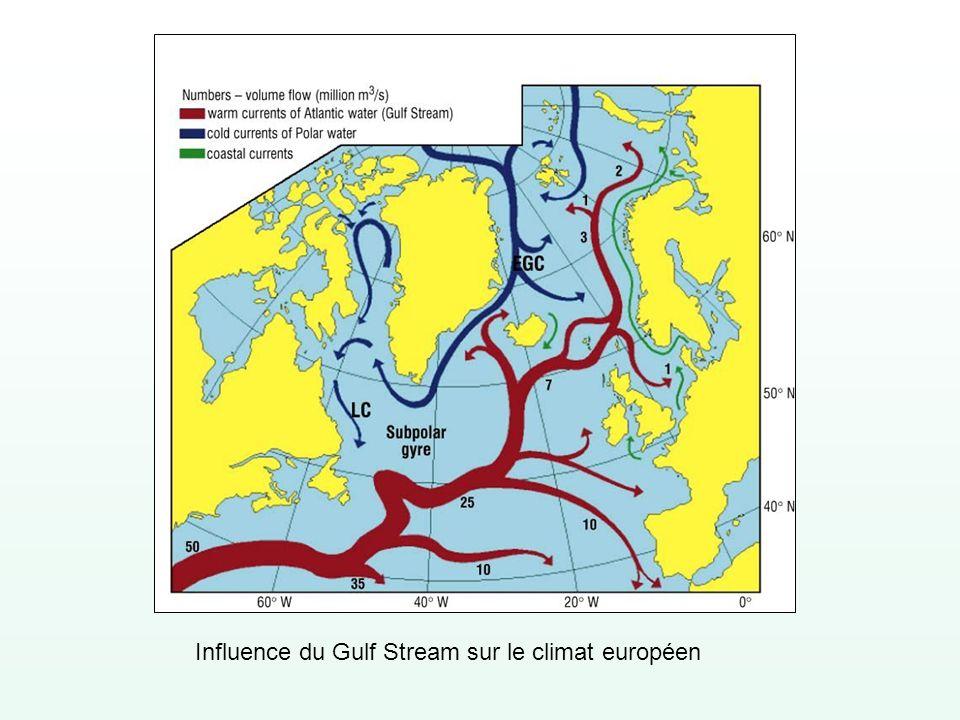 Influence du Gulf Stream sur le climat européen