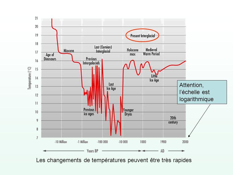 Compte tenu de la disposition actuelle des continents et des océans, des étés froids dans lhémisphère Nord seraient favorables aux périodes glaciaires.