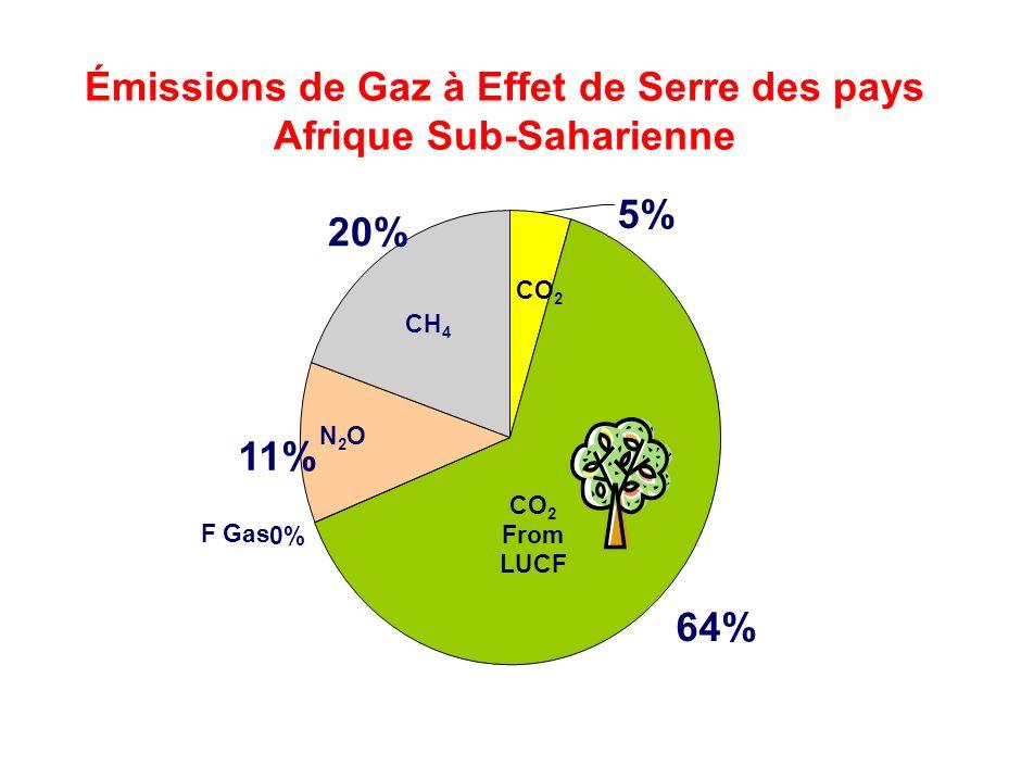 64% 0% 11% 20% 5% Mainstreaming CCRM into UNDP Core Activities- RBA RR Cluster Meeting Émissions de Gaz à Effet de Serre des pays Afrique Sub-Saharien
