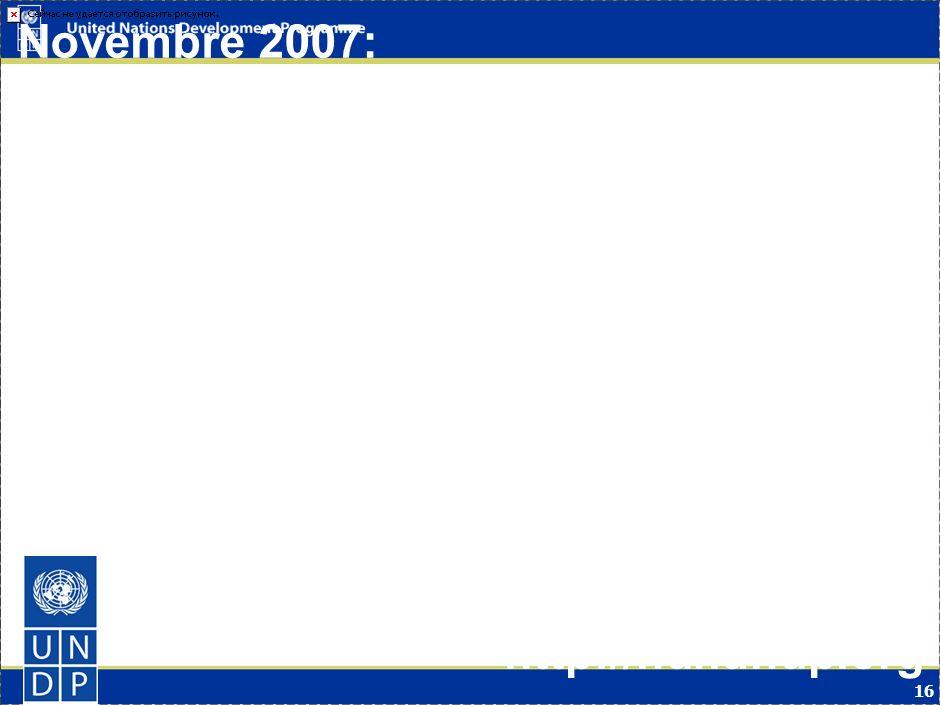 16 Novembre 2007: Le PNUD publie le Rapport Mondial sur le Développement Humain & Le Changement Climatique http://hdr.undp.org