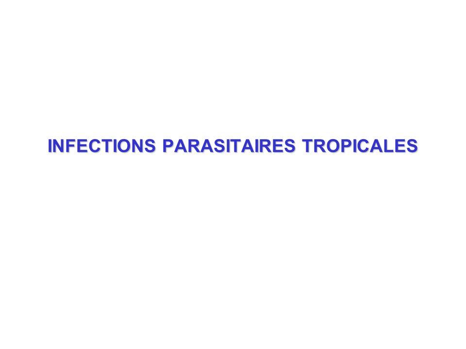 Injection de sporozoïtesInjection de sporozoïtes hépatocytes (24 heures) hépatocytes (24 heures) Schizogonie hépatiqueSchizogonie hépatique schizontes hépatiques schizontes hépatiques Eclatement des schizontesEclatement des schizontes libération mérozoïtes libération mérozoïtes Pénètre hématie / endocytosePénètre hématie / endocytose maturation en trophozoïtes maturation en trophozoïtes schizontes gamétocytes érythrocytaires (n cycles) mérozoïtes ingestion par moustique moustique trophozoïtes...