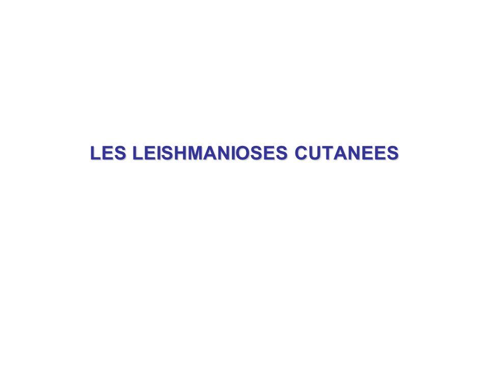 LES LEISHMANIOSES CUTANEES