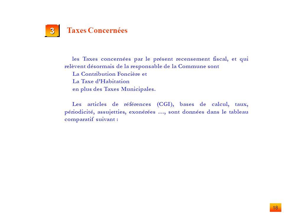 17 2 Enquête Fiscale / Utilisation de la Fiche du Recensement Propriétaire (suite) Exonéré Cocher cette case pour les locaux exonérés de la contributi