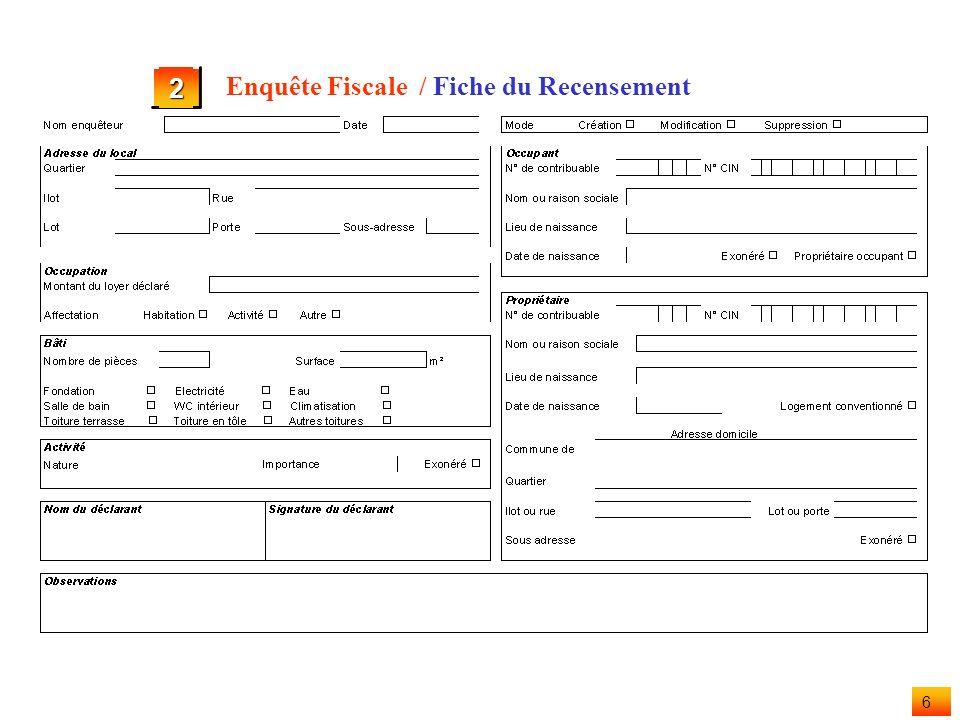 5 / Introduction 2 Enquête Fiscale Une enquête fiscale unique permet détablir lensemble des impôts communaux. Lenquête est réalisée sous la responsabi