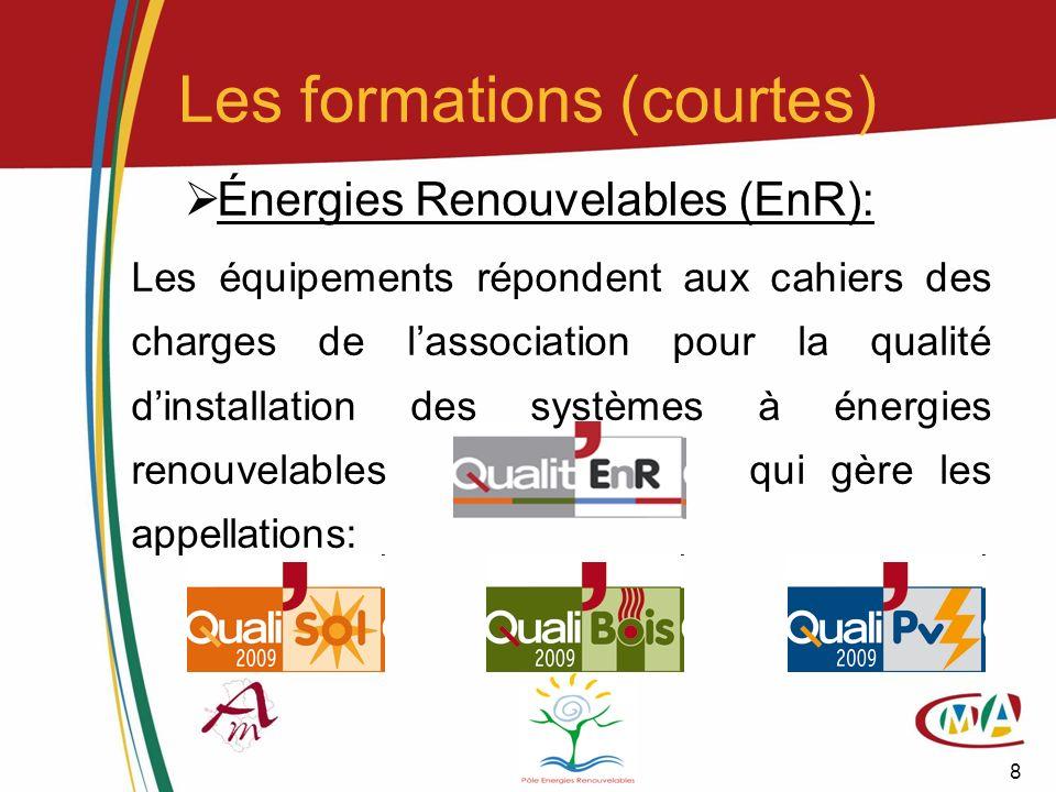 8 Énergies Renouvelables (EnR): Les équipements répondent aux cahiers des charges de lassociation pour la qualité dinstallation des systèmes à énergie