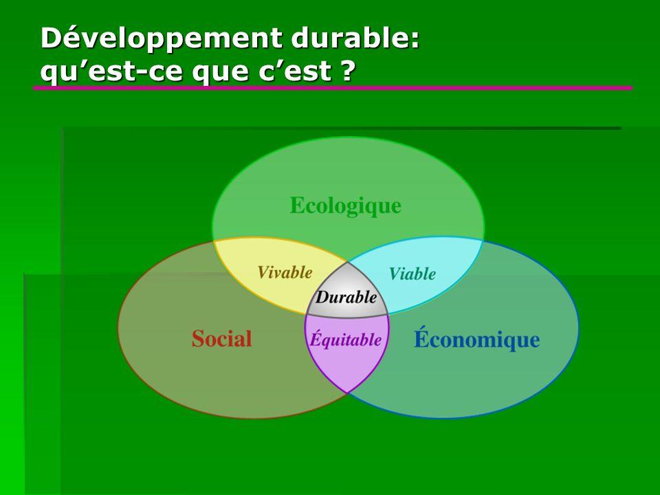 Développement durable: quest-ce que cest ?